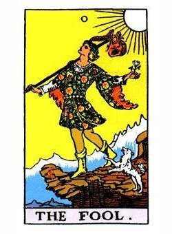 rider waite fool tarot card 250x340